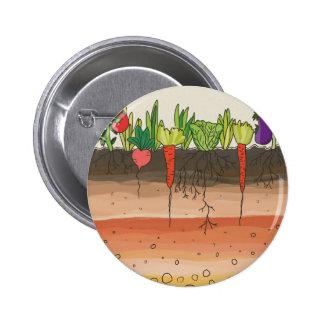 La tierra del suelo del huerto acoda arte de la chapa redonda de 5 cm