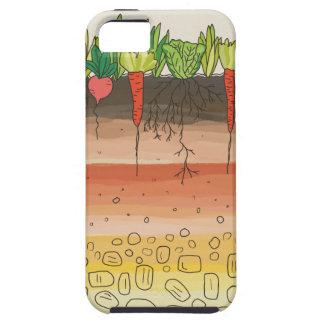La tierra del suelo del huerto acoda arte de la iPhone 5 Case-Mate protector
