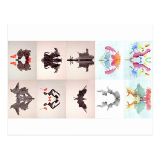 La tinta de la prueba de Rorschach borra las 10 Postal