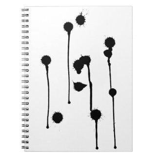 La tinta mancha el cuaderno