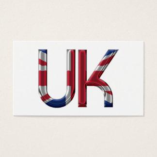 La tipografía británica BRITÁNICA de la bandera de Tarjeta De Negocios