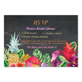 La tiza tropical de la hawaiana nupcial de la invitación 8,9 x 12,7 cm