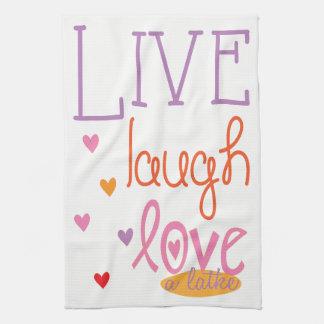 """La toalla de cocina """"vive amor de la risa una"""