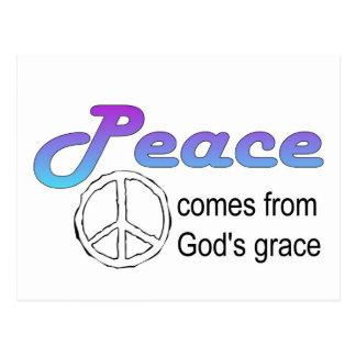La tolerancia de dios cristiano del signo de la postal