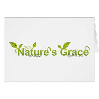 La tolerancia de la naturaleza con la mariquita tarjeta de felicitación