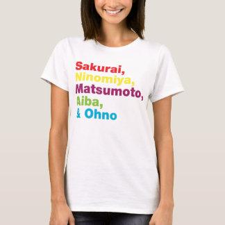 La tormenta colorea la camiseta japonesa