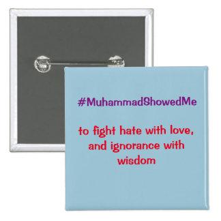 La tormenta Mohamed de Hashtag del gorjeo me Chapa Cuadrada 5 Cm