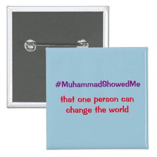 La tormenta Mohamed del gorjeo de Hashtag me Chapa Cuadrada 5 Cm