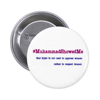 La tormenta Mohamed del gorjeo de Hashtag me Chapa Redonda 5 Cm