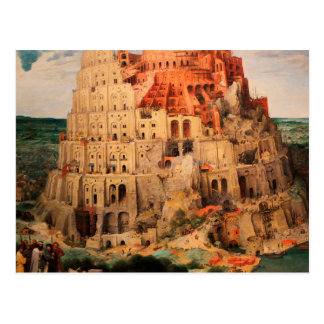 La torre de Babel de Pieter Bruegel la anciano Postal
