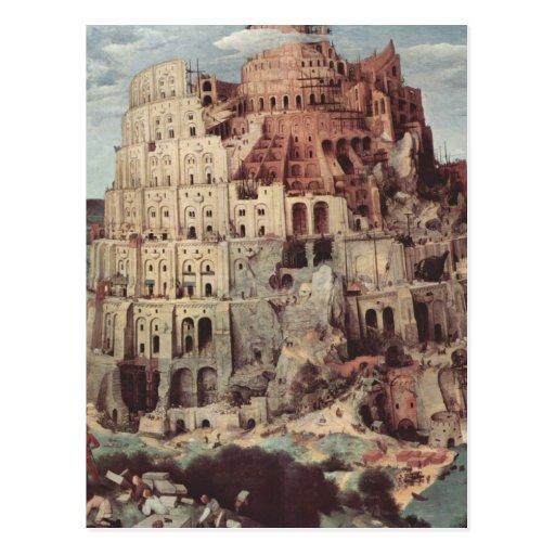La torre de Babel - Pieter Bruegel la anciano Tarjetas Postales