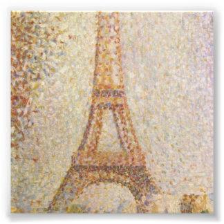 La torre Eiffel de Jorte Seurat Impresión Fotográfica