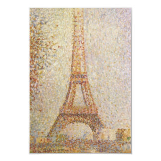 La torre Eiffel de Jorte Seurat Invitación 8,9 X 12,7 Cm