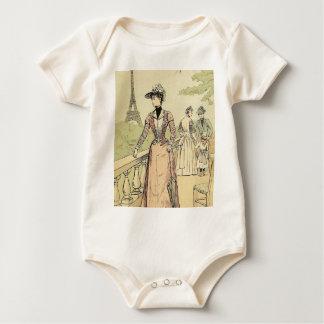 La torre Eiffel de la exposición cultiva un huerto Body Para Bebé
