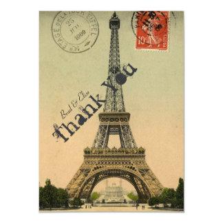 La torre Eiffel de París del vintage personalizada Invitación 11,4 X 15,8 Cm