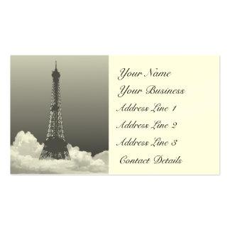 La torre Eiffel de París flota en tarjeta de Tarjeta De Visita