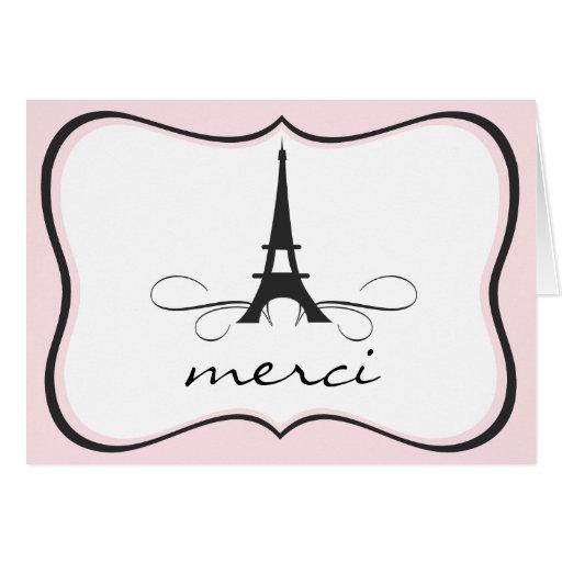 La torre Eiffel de París le agradece tarjeta de no