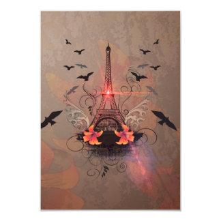La torre Eiffel Invitación 8,9 X 12,7 Cm