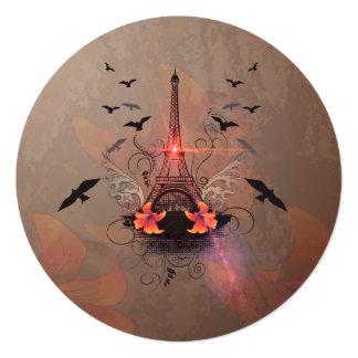 La torre Eiffel Invitación 13,3 Cm X 13,3cm