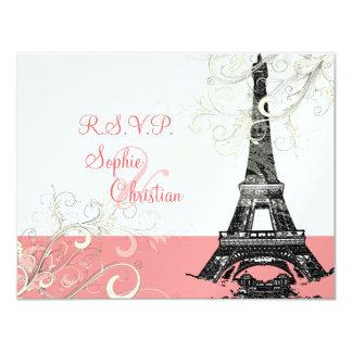 La torre Eiffel RSVPs requiere las invitaciones