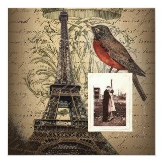 la torre Eiffel scripts aniversario de boda del Invitación 13,3 Cm X 13,3cm