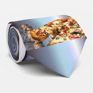 La torre inclinada de la pizza (Pisa) Corbatas Personalizadas