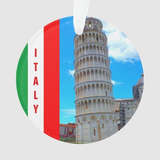 La torre inclinada de Pisa, de Italia y de la cruz Adorno