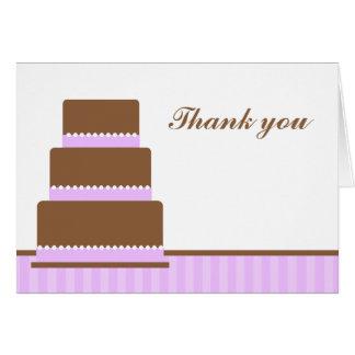 La torta de cumpleaños púrpura le agradece las not felicitación