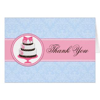 La torta de las costuras le agradece las tarjetas