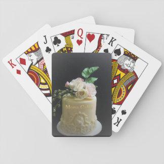La torta y las tarjetas van formales baraja de cartas