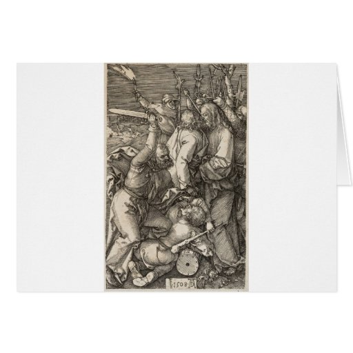 La traición de Cristo circa 1508 Tarjeton