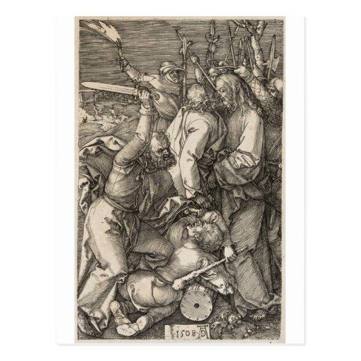 La traición de Cristo circa 1508 Postales