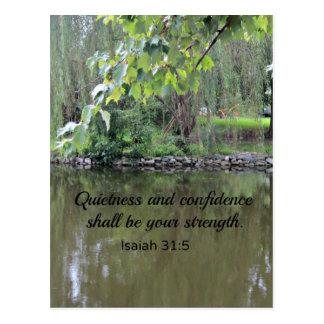 La tranquilidad y la confianza del 31:5 de Isaías Postal