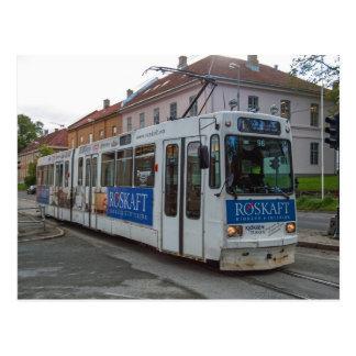 La tranvía en Strondheim Graakallbanen Postales