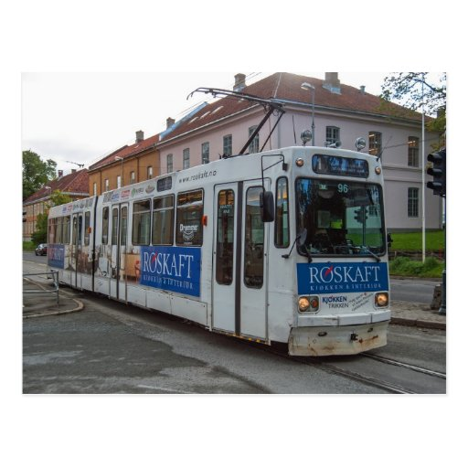 "La tranvía en Strondheim, ""Graakallbanen "" Postales"