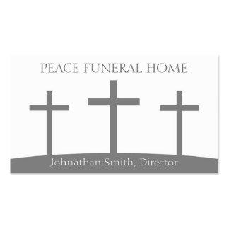 La trinidad de Diirector de la funeraria cruza los Plantillas De Tarjetas De Visita