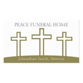 La trinidad de Diirector de la funeraria cruza los Tarjeta De Visita