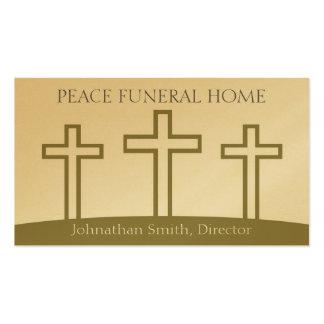 La trinidad de Diirector de la funeraria cruza los Tarjetas De Visita
