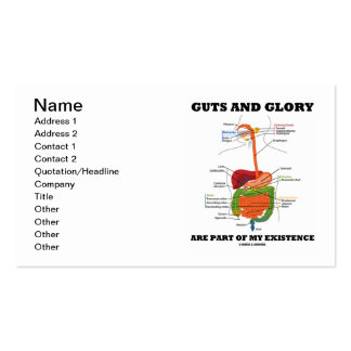La tripa y la gloria son parte de mi existencia tarjetas de visita