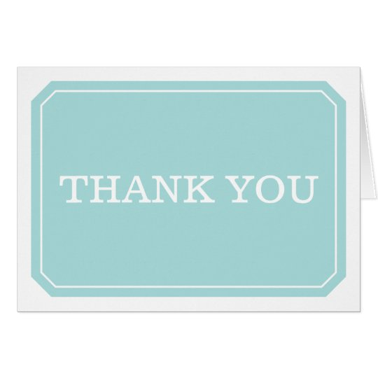 La turquesa simplemente elegante le agradece tarjeta de felicitación