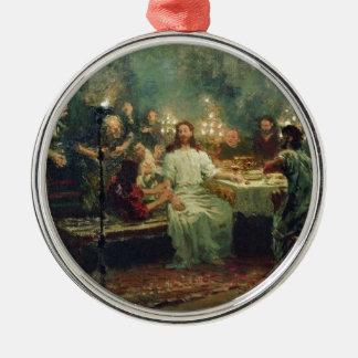 La última cena de Ilya Repin Adorno Navideño Redondo De Metal
