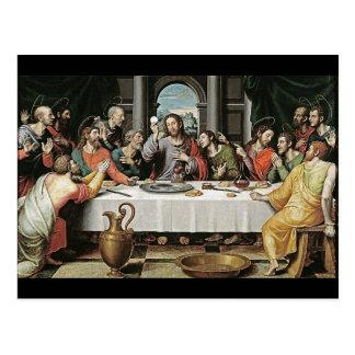 La última cena de Juan de Juanes Postal
