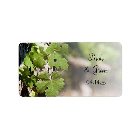 La uva sale de etiquetas del favor del boda del etiqueta de dirección