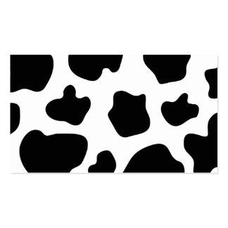 La vaca mancha el estampado de animales de la tarj plantilla de tarjeta personal