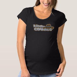 La vaquera embarazada del bebé occidental lindo camiseta de premamá
