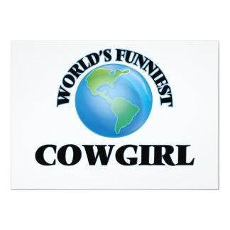 La vaquera más divertida del mundo invitación 12,7 x 17,8 cm