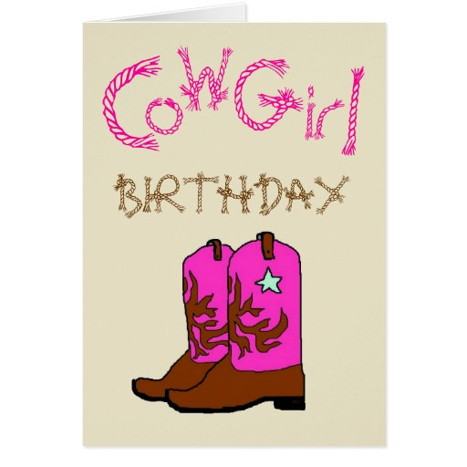 La vaquera rosada patea la invitación del cumpleañ tarjetas