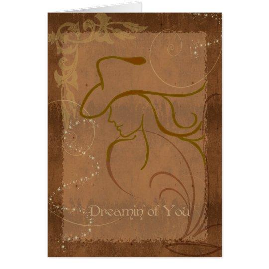 La vaquera soña la tarjeta de los sueños dulces