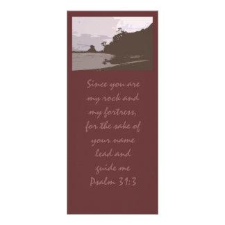 La ventaja y me dirige - 31:3 del salmo diseño de tarjeta publicitaria