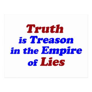 La verdad es traición postal